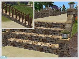 rustic stone garden steps mesh