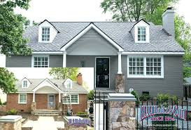 Grey Painted Brick House Gray Fresh Exterior On 2 Intended