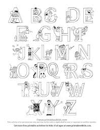 Small Picture Alphabet Colouring Page FunyColoring