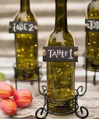 Wine Bottle Table Number Holder