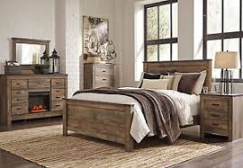 Ashley Furniture B446 Trinell - Modern Queen or King Panel Bed Frame ...