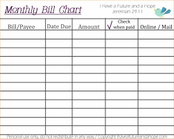 Monthly Bill Organizer Template And Printable Monthly Bill Organizer