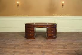 oval office desks. Leather Top Oval Desk In Burled Walnut Office Desks