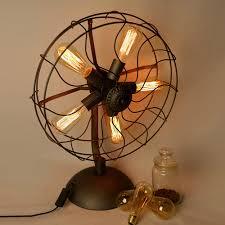 fan vintage table lamp