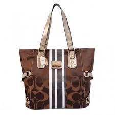 Coach In Signature Logo Medium Coffee Totes BFC