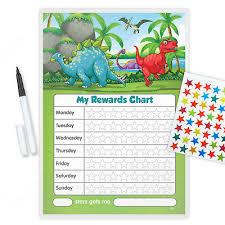 Dinosaur Reward Chart And Stickers Magnetic Dinosaur Behaviour Reward Chart With Free Pen