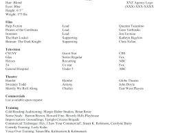 Acting Resume Beginner Beginners Resume Template Resume Template Actor Sample Acting 5 Barb