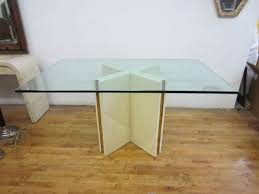 rectangle dining table with x shape wooden base as well as pedestal table base