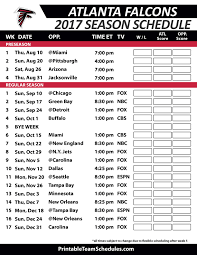 Atlanta Falcons Depth Chart 2017 Atlanta Falcons Football Schedule 2017 Patriots Football