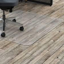lorell hard floor rectangler polycarbonate chairmat llr69708