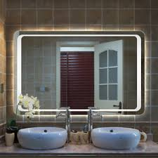 bathroom mirrors with lights in them. LARGE LED ILLUMINATED MODERN BATHROOM MIRROR WITH DEMISTER / IR SENSOR LIGHT Bathroom Mirrors With Lights In Them Z
