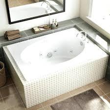 60 x 42 bathtub white acrylic oval in rectangle whirlpool tub common skirted soaking