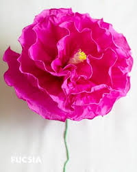 Large Tissue Paper Flower Large Crepe Paper Flower Paper Flowers Diy Paper Flowers