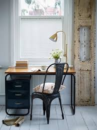 eclectic home office alison. Small Home Office With Distressed Door Frame [From: The Window Film Company UK] Eclectic Alison D