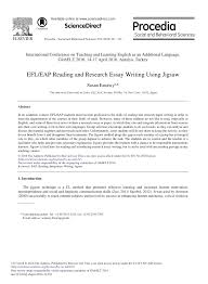 efl eap reading and research essay writing using jigsaw