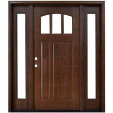 home depot front doors with sidelightsSingle door with Sidelites  Wood Doors  Front Doors  The Home Depot