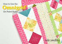 Quilting Tutorial: How to Use the Omnigrid On-Point Ruler &  Adamdwight.com