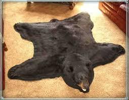 bear skin rug bear rug bear mounts