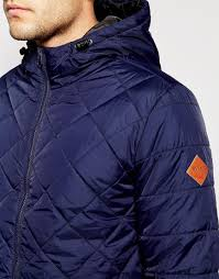 Mens Navy Blue Quilted Jacket - The Quilting Ideas & ... navy; blend quilted hooded jacket in blue for men lyst ... Adamdwight.com