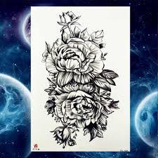 для женщин Fashoin черный груди искусство татуировки временные для мужчин рукоятки
