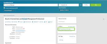 Using Folders In Resume Database