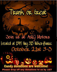this is our first year hosting a trunk and treat and we are very excited to be doing this and be able to meet great people around the munity and giving
