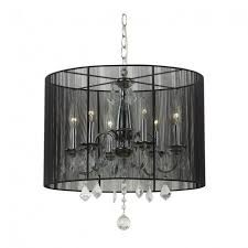 groovy crystal chandelier with black drum shade 2 black drum shade lighting