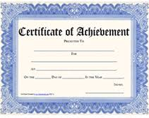 Printable Achievement Certificates Free Printable Certificate Of Achievement Blank Templates