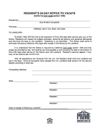 Free Printable 30 Day Eviction Notice Template 21 Printable Free Printable Eviction Notice Forms And