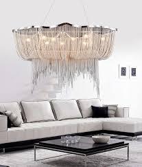 <b>Modern Aluminum Chain</b> Nordic Style Tassel Chandelier Tassel ...