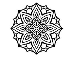Disegno Di Mandala Semplice Simmetria Da Colorare Acolorecom