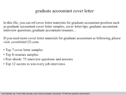 Cover Letter Examples For Graduate Accounting Jobs Corptaxco Com