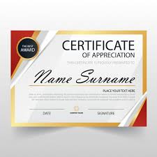 free recognition certificates modern certificate of appreciation template vector free
