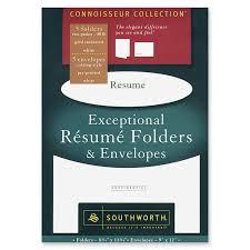 Resume In Envelope Resume exceptional resume folder with envelope southworth exceptional resume