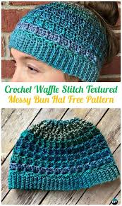 Free Crochet Ponytail Hat Pattern Enchanting Crochet Ponytail Messy Bun Hat Free Patterns [Instructions]
