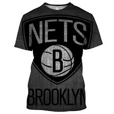 Brooklyn Nets Seating Chart 3d Nba Brooklyn Nets 2 Logo Unisex 3d Printed Pull Over T Shirt
