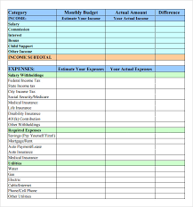 Easy Monthly Budget Easy Monthly Budget Worksheet The Best Worksheets Image Collection