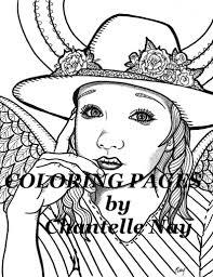 Cowgirl Engel Kleurplaten Pagina Vrouw Gezicht Volwassen Etsy