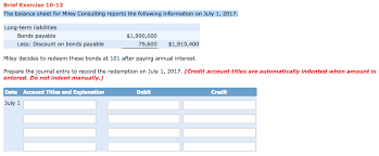 discount on bonds payable balance sheet solved the balance sheet for miley consulting reports the