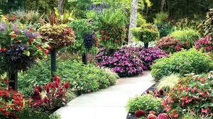 round flower garden year round flower garden plan add height with planters and baskets flower garden round flower garden