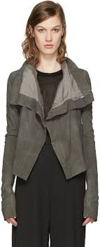 rick owens grey classic leather biker jacket women rick owens adidas superstar attractive