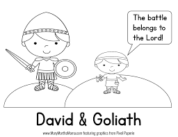 Small Picture Coloring Pages About David And Goliath Best Of diaetme