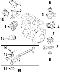 parts com® ford escape engine trans mounting oem parts 2002 ford escape xls l4 2 0 liter gas engine trans mounting