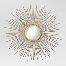 gold sunburst mirror. Sunburst Decorative Wall Mirror - Metal Gold Threshold™