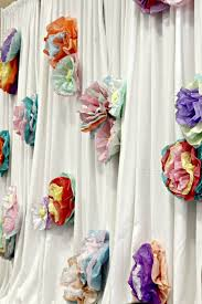 Tissue Paper Flower Decor Simple And Inexpensive Party Shower And Banquet Decor Tissue