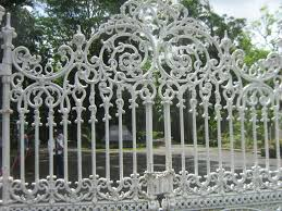wrought iron fence gate. Wrought Iron Fence At Garden In Mauritius Gate