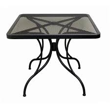 round outdoor patio table in metal patio charm