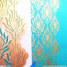 stencils wall painting beautiful for peacock fancy stencil free stencils wall painting pattern