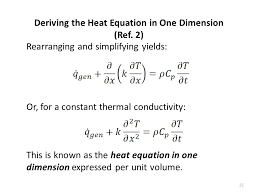 deriving the heat equation in one dimension ref 2
