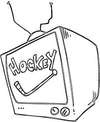 tv coloring pages. Modren Pages Hockey On Tv Coloring Page Inside Coloring Pages